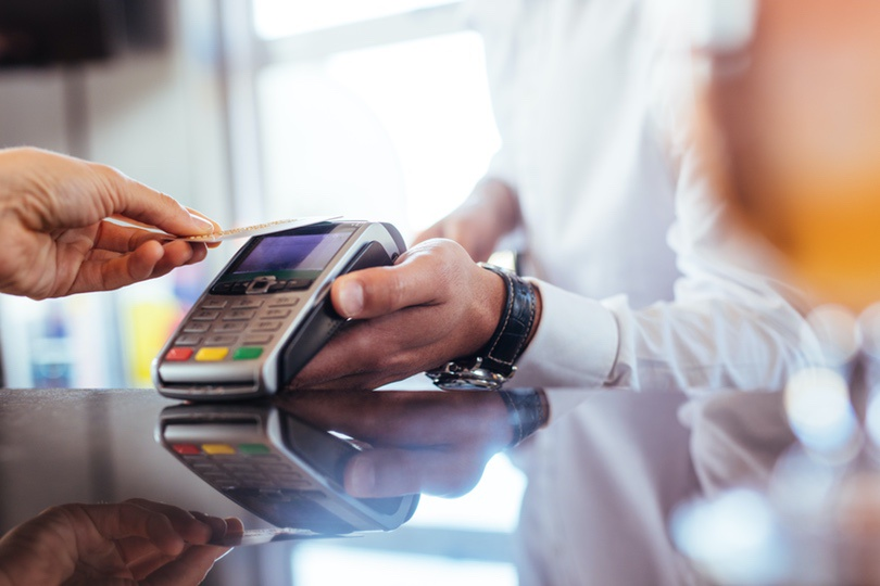 Counter Payment Using Credit Card